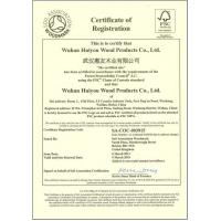 Wuhan Huiyou Wood Products Co., Ltd Certifications
