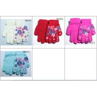 Quality kids' knitted gloves acylic gloves SK019-sk022 beautiful style children magic gloves wholesale