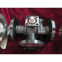 Quality Carbon  steel Flange WCB 3 Way Ball Valves With Direct 5211 ISO Mounting pad wholesale