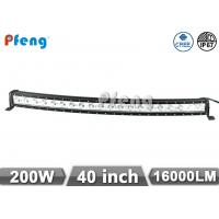 Quality 200W 40 Inch Single Row Led Light Bar Curved LED Chip 16000 Lumen wholesale