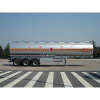Quality 46000 Liters Aluminum Fuel Oil Tank Trailer With 12T BPW 3 axles Petroleum Tanker Trailers wholesale