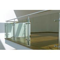 Quality Interior Stainless Steel glass balustrade fittings, laminated glass balustrade wholesale