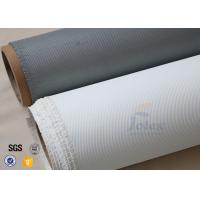 Quality Satin Weave Silicone Coated Fiberglass Fabric PU Coated Fiber Glass Cloth wholesale
