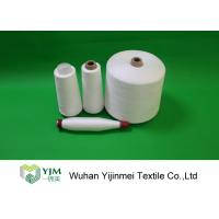 Quality Optical White / Bleached White TPM 828 50s/2 Spun Polyester Yarn 42337 Meters Per KG wholesale