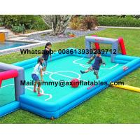 Quality China Price Customized Kids Inflatable Soccer Field 0.9MM PVC Tarpaulin Commercial Inflatable Football Field For Sale wholesale