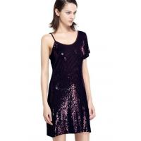 Quality Sequin Embroidery Bling Bling Party Dresses , One Shoulder Club Dress Going Out Wear wholesale