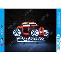 Quality Glass Purple Display Neon Sign Lamp for Car Shop , 110V - 240V AC wholesale