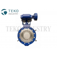 China Gear Operated Three Offset 900Lb 60 Stainless Steel Butterfly Valve on sale
