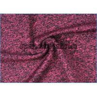 Quality Polyester Spandex Circular Sportswear Fabric Heather Knitting 150D 300gsm wholesale