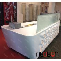 Quality Home Bar Counter Modern L-Shape led light countertop Solid Surface Small Bar Counter Designs wholesale