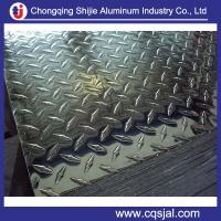 China 1050 1060 3003 5754 alloy diamond embossed aluminum tread sheet manufacturer on sale