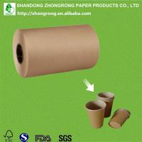 Quality PE coated brown kraft paper for paper cup wholesale