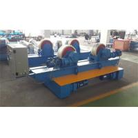 Quality Bolt Adjustment Movable Pipe Welding Rollers , 20 T Capacity Pipe Supports Stands wholesale