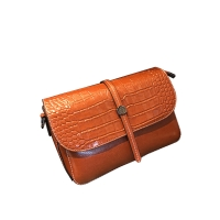 China Shoulder Bags For Women With Canvas Straps Ladies Genuine leather Sling Bag on sale