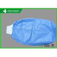 Quality Non Woven Sleeve Cover / Disposable Arm Sleeves With Rubber And Knitted Cuff wholesale