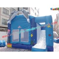 Quality Blue Outdoor Inflatable Bouncer Slide Commercial With Castles wholesale