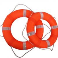 Quality Red Color Boat Lifesaver Ring , Polyurethane Foam Swim Safety Buoy wholesale