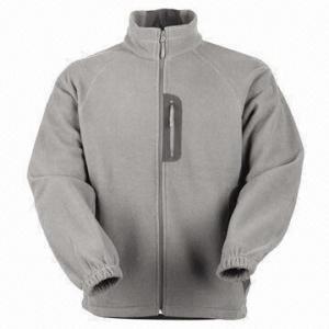 Quality Men's Fleece Jacket with Nylon Zipper wholesale