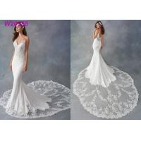 Quality Spaghetti Strap Sheath Vestido White Mermaid Wedding Dress De Noiva Boho Dubai Arabic wholesale