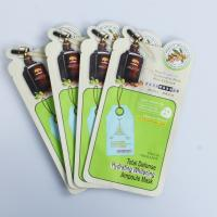 Quality Cosmetic facial mask special shaped pouch face mask packaging bag moisture proof plastic pouch wholesale