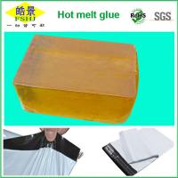 Quality Yellow Transparent Hot Melt Glue Block For Express Bag Sealing Strong Adhesion wholesale