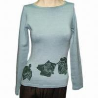 Quality Ladies sweater, made of spun silk with spandex wholesale