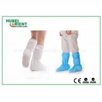 Quality Nonwoven Surgical Medical Boot Covers , Non Slip Waterproof Shoe Covers For Cleaning Room wholesale