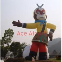 Cheap 20 Feet H cartoon character model handsome inflatable monkey king for advertisin for sale