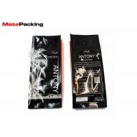 China Glossy Side Gusset Bag Plastic Coffee Pouch With Degassing Valve Custom Printing on sale