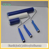 China Blue Reusable Sticky Roller , High Anti Static Silicon Sticky Roller on sale