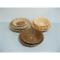 Quality Small Beautiful Christmas Poly Rattan Basket For Cookie , Supermarket Use wholesale