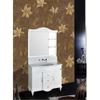 Quality Floor Standing PVC Bathroom Cabinet Single Vanity Glue Sink Mirror Ceramic Basin wholesale