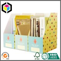 China Cute Stationery Paper Corrugated Diy Desktop Storage Box A4 Size Folder for Display Box on sale