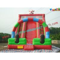 China Cute Clown Commercial Inflatable Slide , Giant Inflatable Slide For Children on sale