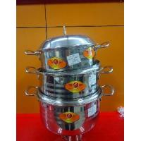 Cheap 3PCS Stainless Steel Pan with Steel Cover for sale