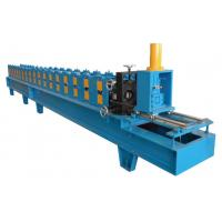 China 12 Stations Single Chain Drive Shutter Door Guard Rail Roll Forming Machine With 10-15m/min on sale