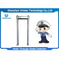 Quality Outdoor Door Frame Metal Detector 6/12/18 Zones For Security Inspection wholesale