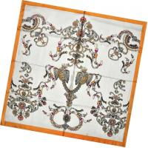 China Mediun Pure Silk Scarf (DX1032-4) on sale