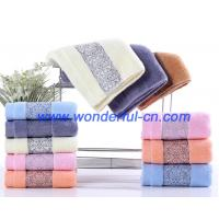 Quality Bulk fluffy luxury embroidered organic cotton face turkish towels wholesale