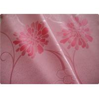 """Quality Beautiful Pink Flower Polyester Elastane Fabric Cloth 57"""" / 58"""" Width wholesale"""