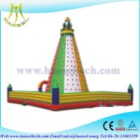 China Hansel Outdoor inflatable climbing walls ,giant inflatable rock climbing wall,inflatables on sale