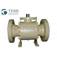 China Double Block Bleed Forged Steel Class 2500 Trunnion Ball Valve With Self Relieving Vent on sale