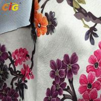 Buy cheap Printed Super Soft  Velour Burnout Design, Soft Sofa Upholstery Fabric With T/C Backing from wholesalers