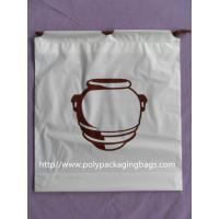 Quality Clothing Plastic Drawstring Backpack Promotional For Shopping / Sports wholesale