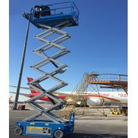 Quality Small Hydraulic Man Lift Equipment For Indoor And Outdoor Construction Scissor Lift Lift Capacity 227kgs wholesale