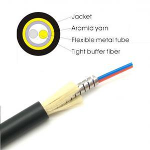 Cheap Anti Rodent 2F Tactical Fiber Optic Cable Singlemode OM1 OM2 OM3 OM4 Lightweight for sale