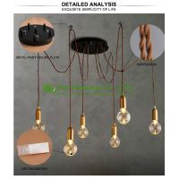 China fashional modern chandeliers pendant lights edison bulbs A19 A60high ceiling pendant lighting Ceiling lamp on sale