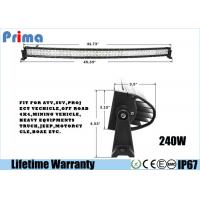 Quality Double Row 240W  42 Inch Curved LED Light Bar Spot / Flood / Combo Beam wholesale