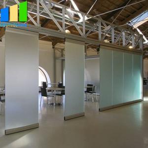 China Unframed Glass Doors Sliding Partition Walls Frameless Aluminum Glass Partition Folding Door on sale
