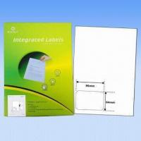 Quality Adhesive integrated labels, used as invoice labels, 70 to 90g vellum paper, customized size welcomed wholesale